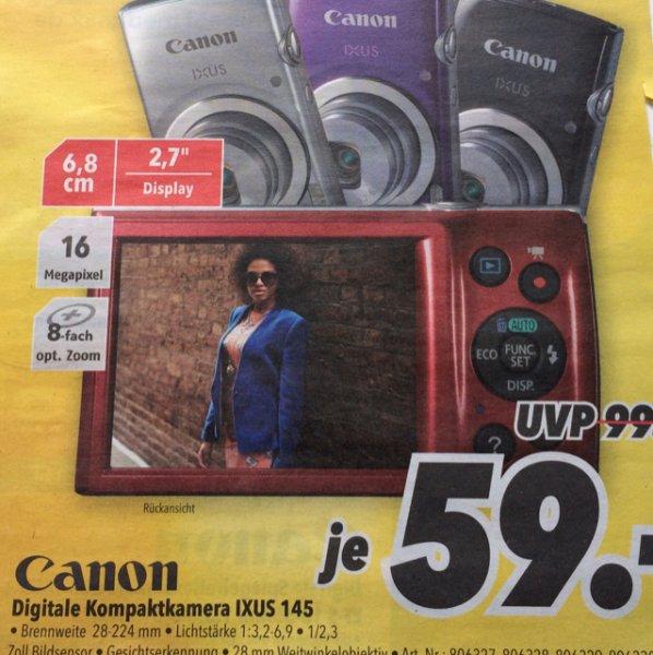 [Medimax] Canon IXUS 145 für 59 Euro