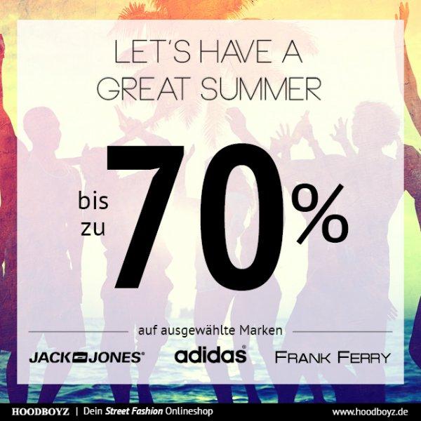 Bis zu 70% Rabatt auf Jack & Jones, Adidas und Frank Ferry bei Hoodboyz.de