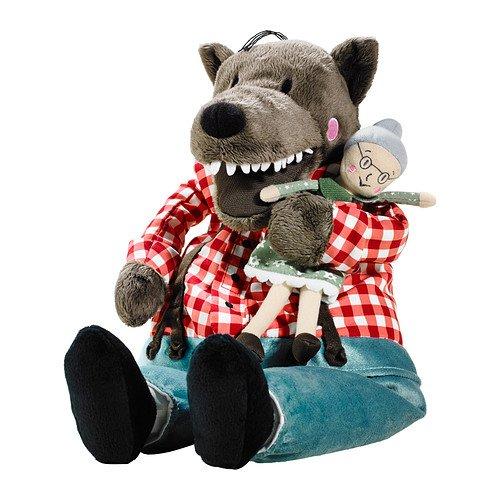 LUFSIG Stoffspielzeug, Wolf, fressbare Oma, 38cm groß - sehr kuschelig - waschbar - 9,99€ @Ikea