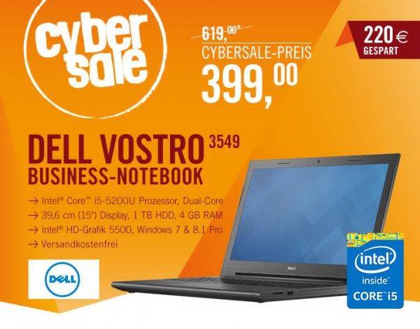 [Cyberport]DELL Vostro 3549 Notebook i5-5200U HD matt Windows 7/8.1 Professional