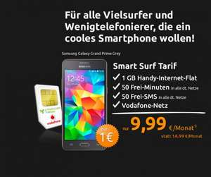 [Crash Handytarife]  50 Freiminutent + 50 SMS + 1GB Datenflat + Samsung Galaxy Grand Prime [240,76€]