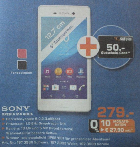[Saturn AC, DN, EU + X] Sony Xperia M4 Aqua für eff. 229€