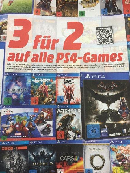 [Media Markt National ] 3 für 2 Aktion für alle PS4 Games am 24.6.2015 bis 4.7.2015