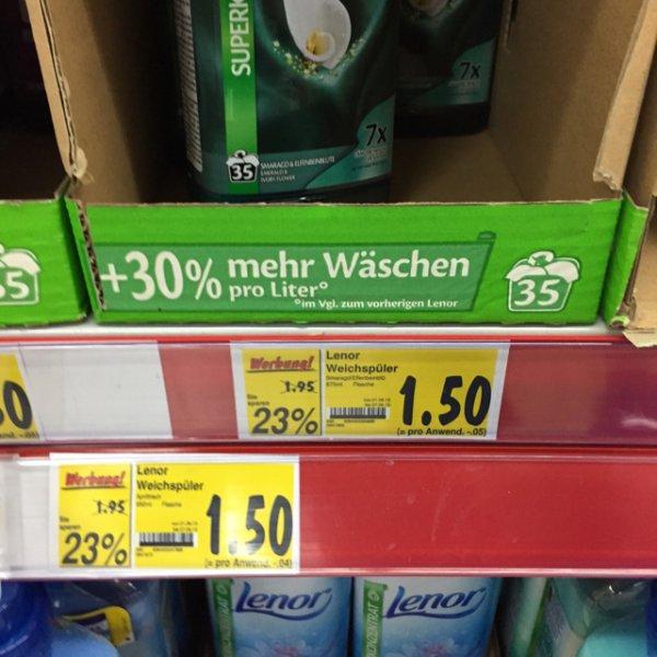 (Kaufland Hamm) Lenor Weichspüler für 1,50 Euro