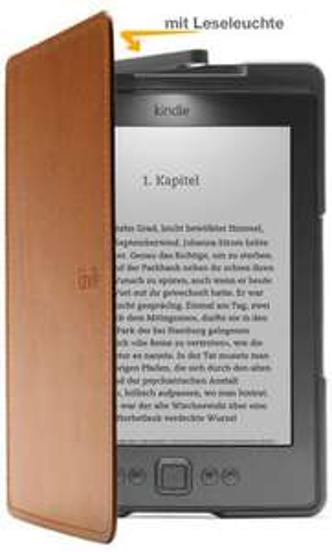 @Amazon: WHD - Kindle Lederhülle mit Leseleuchte, Hellbraun (nur geeignet für Kindle) ab 3,50€ mit Prime