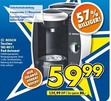 (Lokal/PB) Bosch Tassimo TAS4011