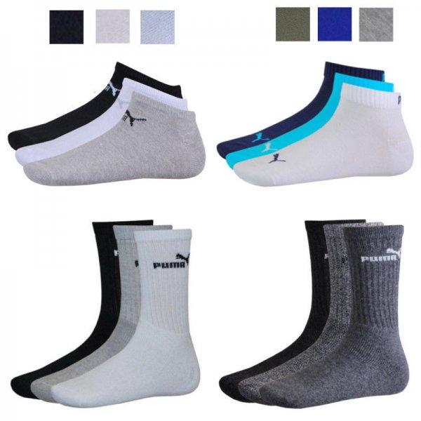 Puma 12er Pack Sportsocken, Quarter oder Sneaker (Größe 35 - 46) für 19,95 €
