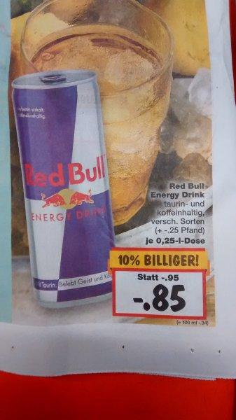 Red Bull für 85 Cent/Dose @ Kaufland [bundesweit]