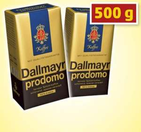 [Lidl bundesweit] Dallmayr Prodomo Kaffe 500g 3,99€ ab 25.6
