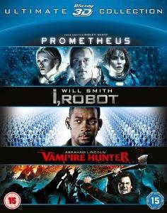 Prometheus / I Robot / Abraham Lincoln (3D Blu-ray) (O-Ton) für 13,29 € @Zavvi.com
