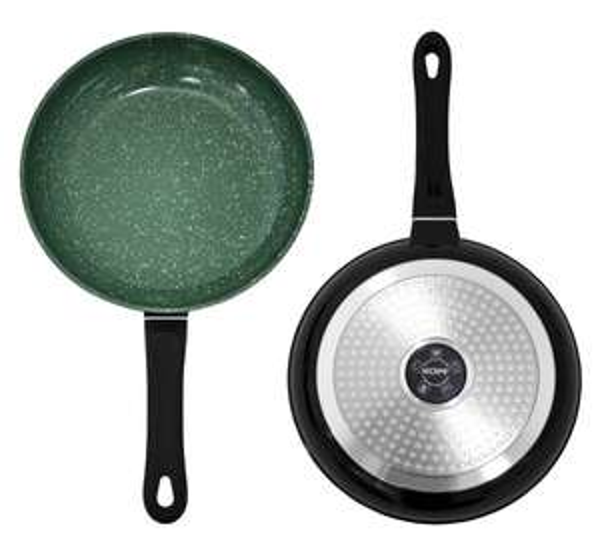 Kopf Emerald Aluguss-Pfannenset 2-teilig, Keramik-Beschichtung, induktionsgeeignet, schwarz / grün zu 39,99 Euro inkl. VSK @Amazon-Blitzdeal
