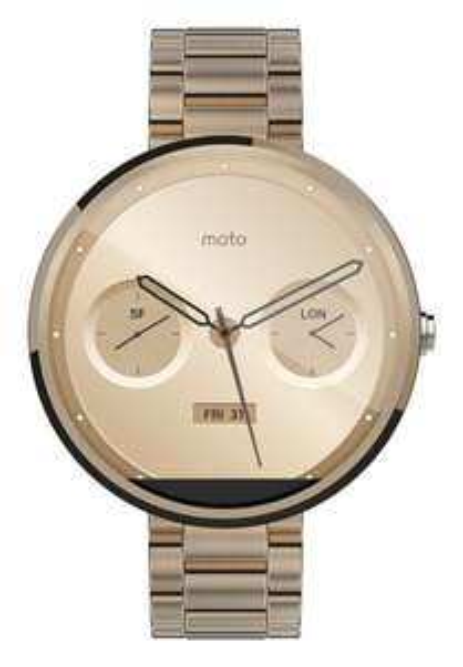 Motorola Moto 360 Gold Metal Armband für 201,48€ @Amazon.es