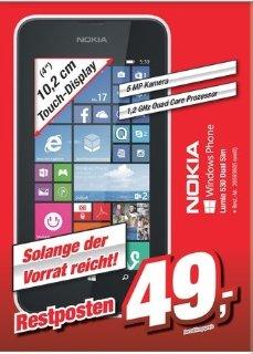 """[Offline Tootal Markt Delmenhorst/Bremerhaven] Nokia Lumia 530 Dual SIM in Weiß [Windows Phone 8.1, 1,2GHz CPU, 10,2cm (4"""") LCD Display, 5 MP Kamera] für 49,-€"""