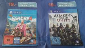 Saturn Hanau: Far Cry 4 & Assassin's Creed Unity für  je 19€  für PS4 & Xbox One ( + weitere Spieleangebote) am 25.06.
