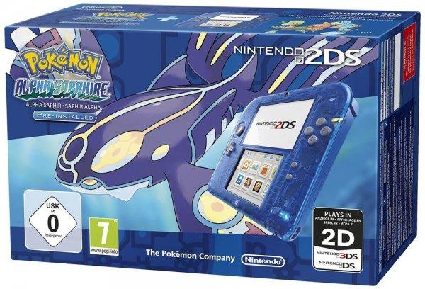 Nintendo 2DS + Pokémon: Alpha Saphir für 100,42€ @Amazon.fr