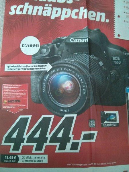 [Mediamarkt] [Amazon zieht mit] CANON EOS 700D+18-55mm IS STM für 444€ - 50€ Cashback = 394€