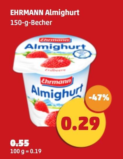 Ehrmann Almighurt   fast -50%   Penny
