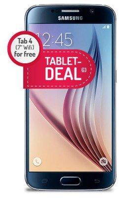 Vodafone (Mobilcom) Allnet Flat | SMS Flat | 500 MB bei 21,6 Mbit/s LTE für 29,99 € / Monat mit Galaxy S6 64 GB und Galaxy Tab 4 7.0 für 49,99 €