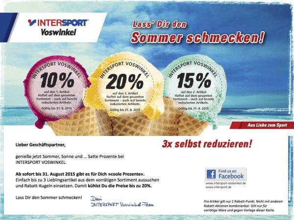 10-20 % Rabatt auf alles bei InterSport Voswinkel - Bundesweit!