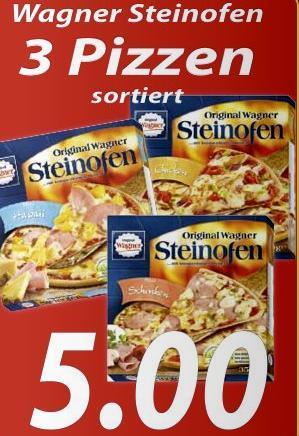 [Regional] 3 Wagner Steinofenpizzen 5€! 500g Lebkuchen & 200g Butterspekulatius gratis zu Bier- und Getränkekisten! Aufschnit gratis bei Fleischkauf!
