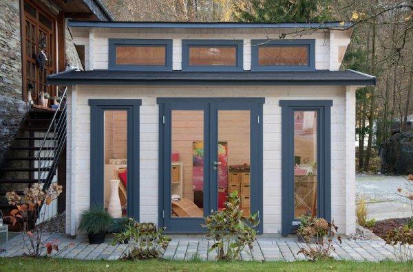 Wolff Gartenhaus Langeoog isolierverglast Holzhaus Haus Garten, 5100,- EUR @ gartenhaus2000