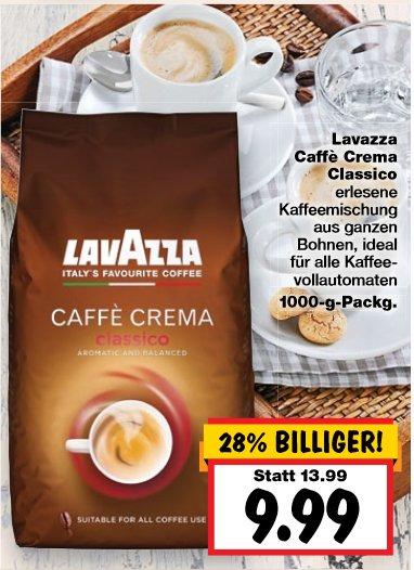 [KAUFLAND] KW27 Lavazza Caffè Crema Classico für 9,99 + Kaffee Crema Tasse