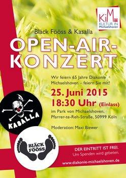 [Lokal] Köln-Rodenkirchen: Bläck Fööss & Kasalla auf dem Open-Air-Konzert der Diakonie Michaelshoven // 25.06.2015