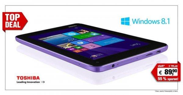 "Toshiba 7"" Tablet-PC Encore Mini WT7-C-101 Windows 8.1 für 89,90€ zzgl. Versandkosten auf Facebook [pearl.de]"