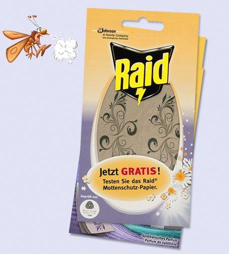 Raid Mottenschutz-Papier Probe