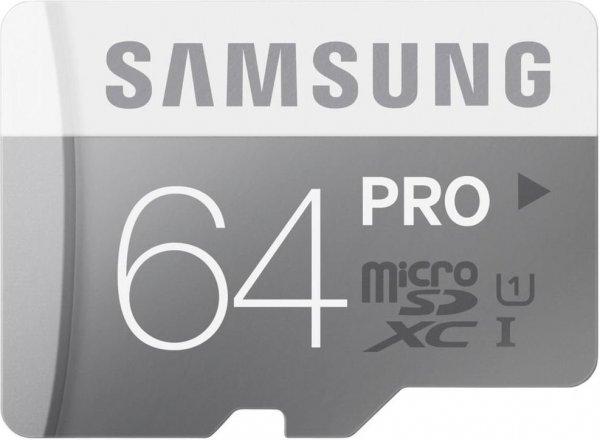 [Amazon Blitz ab 14.00 UhrMicroSDXC 64GB PRO UHS-I Grade 1 Class 10 (bis zu 90MB/s lesen, bis zu 80MB/s schreiben) mit SD Adapter, frustfreie Verpackung für 31,99€