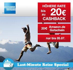 Qipu: AMEX Reiseversicherungen mit bis zu 20€ Cashback + 20€ Amazon.de Gutschein + 10% Gutschein