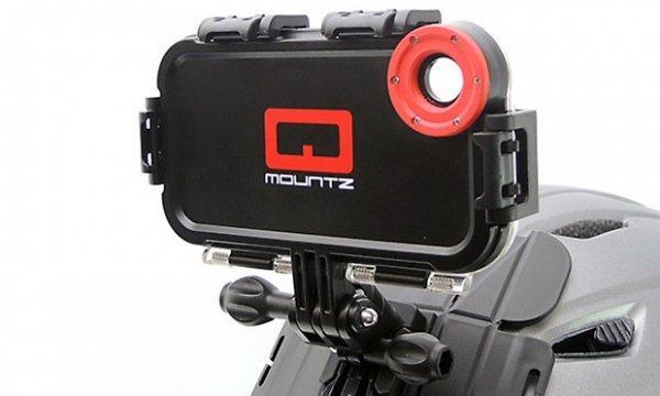 MAPTAQ Outdoor Halterung Q-Mountz für iPhone 5/5S inkl. Fisheye Linse für 17,89€ (f. Fahrrad, Brust, Helm, Surfbrett, Skateboard) @ Groupon