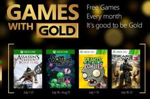 Games with Gold Juli 2015 [Xbox Live]: Assassins Creed 4; So many me; Gears of War 3; Plants vs. Zombies