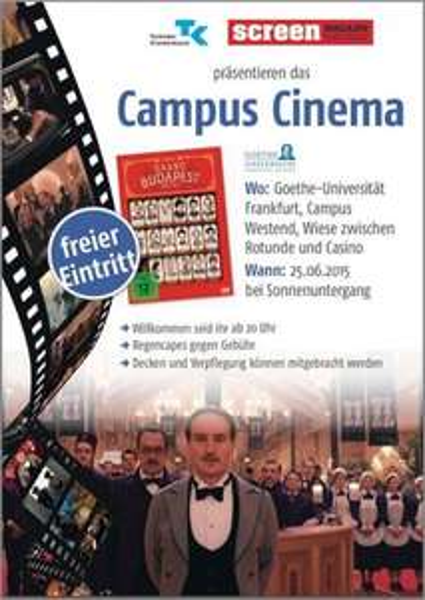 [Lokal Frankfurt] Grand Budapest Hotel Campus Cinema Goethe University Frankfurt Open-Air-Kino
