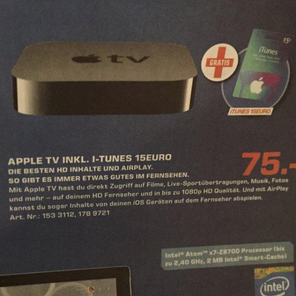 Apple TV inkl. 15€ ITunes Gratis