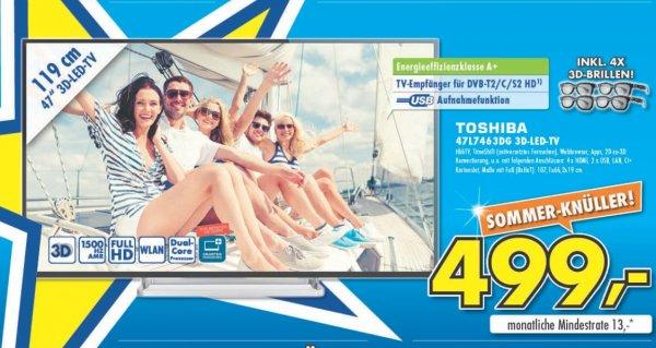 Toshiba 47L7463DG LCD 499€ (LOKAL) Eventuell kostenlose Soundbar dazu ;)