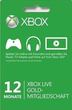 12 Monate Xbox Live Gold für 30,99 €