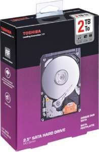 "Toshiba MQ-Series Festplatte - 2TB intern, 2,5"" mit 15mm, 5400rpm, retail - 58,99€ @ Amazon-Marketplace mit Versand durch Amazon"