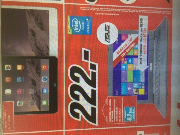 Asus R413MA-Bing-WX431B, 222€ im Media Markt Köln Kalk NUR am 28. Juni 2015