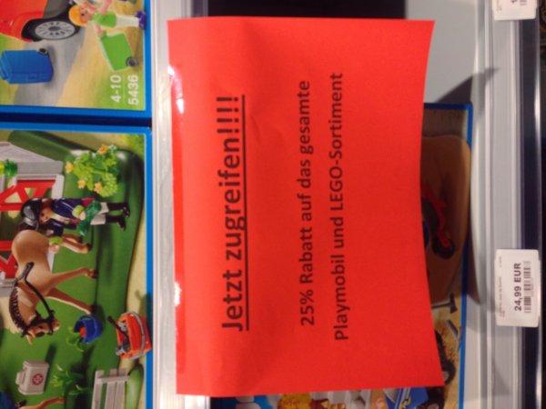 [lokal Dortmund] BabyMarkt Indupark 25% Rabatt auf das komplette Playmobil und Lego Sortiment