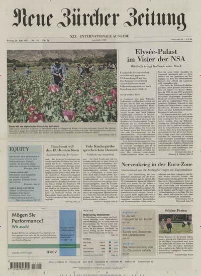 BERLIN: Neue Zürcher Zeitung NZZ - täglich gratis zum Mitnehmen im Deutschen Historischen Museum