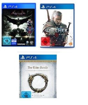 Amazon Angebote Playstation 4, z.B. GTA 5, The Witcher 3, Batman Arkham Knight uvm.
