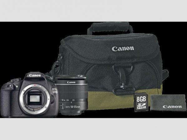[Saturn] CANON EOS 1200D+18-55mm IIIDC Objektiv + Canon 100EG Kameratasche + 8GB Speicherkarte+ Gutschein für 26 Seitiges CEWE Fotobuch für 299,-€