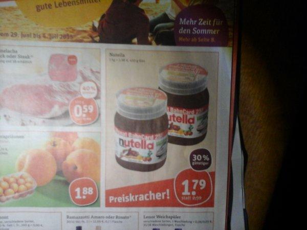 [tegut] Nutella 450g inkl. Bahncard 25 für 1,79€