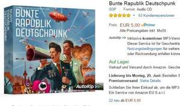 [amazon.de+saturn.de] SDP - Bunte Rapublik Deutschpunk