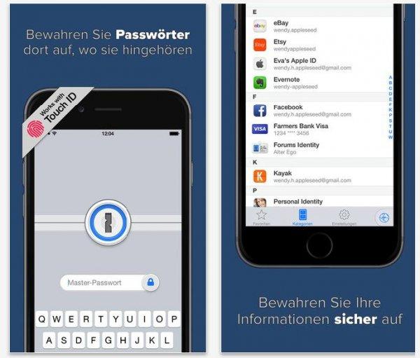 iOS 1 Password Pro aktuell zum halben Preis