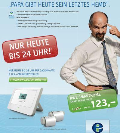 RWE Smarthome für 123 statt 338,90 Euro - nur am Freitag (25.11.)