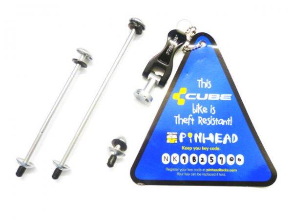 Pinhead Schnellspannachsen-Set für Sattelklemme, Vorder- & Hinterrad