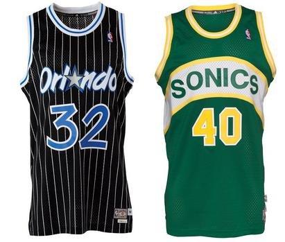 Adidas Swingman NBA Retro Trikots Seattle Supersonics und Orlando Magic für 35,94€ bei MandM direct