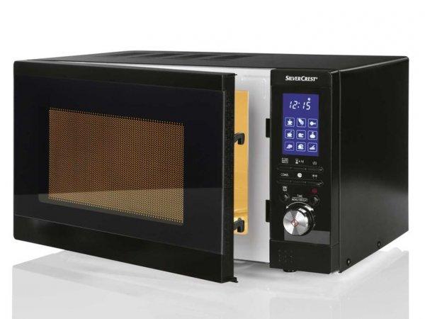 [CENTERSHOP] Silvercrest SMW800 B2 Mikrowelle 800W / Grill 1000W mit LCD Display